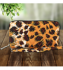 Leopard Quilted Clutch Wallet #RP497-BLACK