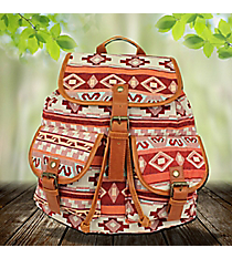 Red Multi-Color Aztec Backpack #RY812-D2-MULTI