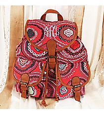 Red Boho Burst Backpack #RYW081-K1204-2-BL-1