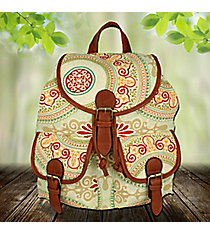 Multi-Color Bohemian Chic Backpack #RYW081-BEIGE