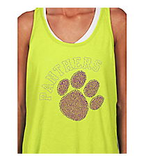 Purple Paw and Team Name Racerback Tank 14900 *Choose Your Team Name!