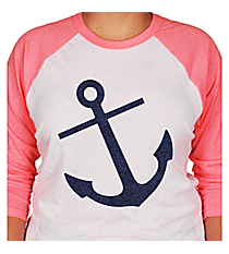 Anchor 3/4 Sleeve Raglan Tee *Choose Your Colors
