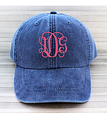 Washed Royal Baseball Cap #LP101