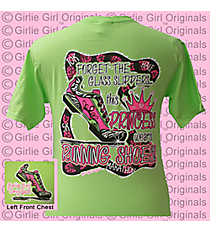 """This Princess Wears Running Shoes"" Lime T-Shirt *Choose Your Size"