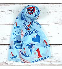 "Blue ""#1 Nurse"" Scarf #SC0014-BL"