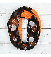 Black and Orange Football Theme Infinity Scarf #SC0061-BKOR