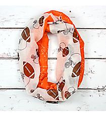Orange and White Football Theme Infinity Scarf #SC0061-ORIV