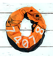 Orange and Black Oklahoma Infinity Scarf #SC0090-BKOR