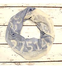 Light Blue and White North Carolina Infinity Scarf #SC0098-LBLWT