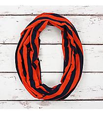 Navy and Orange Stripe Infinity Scarf #SC0101-NVOR