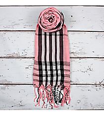 Pink Plaid Scarf #SC1785-PINK