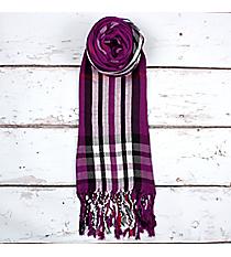 Purple Plaid Scarf #SC1785-PURPLE