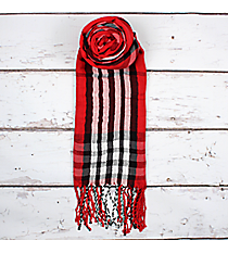 Red Plaid Scarf #SC1785-RED