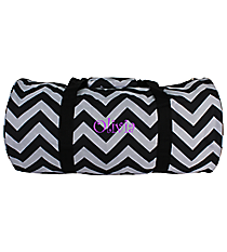 Black Chevron Roll Duffle Bag #SD-1324