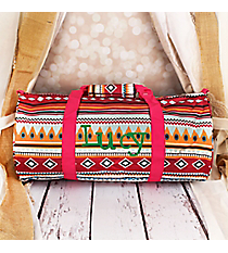 Pink Aztec Roll Duffle Bag #SD-705