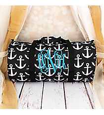 Black and White Anchor Roll Duffle Bag #SD-706