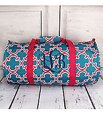 Blue and Pink Moroccan Roll Duffle Bag #SD-708-BL