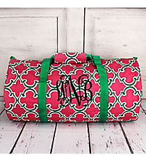 Pink and Green Moroccan Roll Duffle Bag #SD-708-P