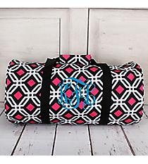 Black and Pink Diamond Daze Roll Duffle Bag #SD-709-BK