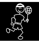 Tennis Male Vinyl Car Decal #SF33