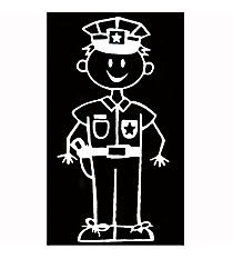 Police Officer Male Vinyl Car Decal #SF40