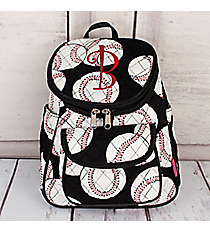 Baseball Quilted Petite Backpack #SKQ286-BLACK