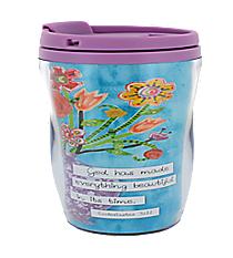 Ecclesiastes 3:11 Floral Blessings Travel Mug #SMUG148