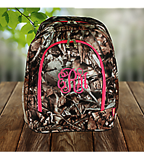 BNB Natural Camo Large Backpack with Hot Pink Trim #SN403-HPINK