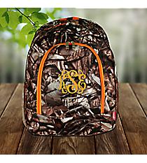 BNB Natural Camo Large Backpack with Orange Trim #SN403-ORANGE