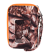 BNB Natural Camo Quilted Wristlet #SN495-ORANGE