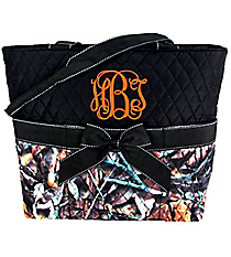 BNB Natural Camo Quilted Diaper Bag with Black Trim #SNQ2121-BLACK
