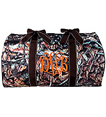 """21"""" BNB Natural Camo Quilted Duffle Bag with Brown Trim #SNQ2626-BROWN"""