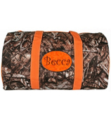 "21"" BNB Natural Camo Quilted Duffle Bag with Orange Trim #SNQ2626-ORANGE"