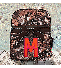 BNB Natural Camo Quilted Large Backpack with Brown Ribbon #SNQ2828-BROWN-NEW