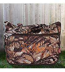 BNB Natural Camo with Brown Trim Shoulder Tote #SNQ594-BROWN