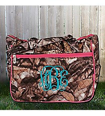 BNB Natural Camo with Hot Pink Trim Shoulder Tote #SNQ594-HPINK