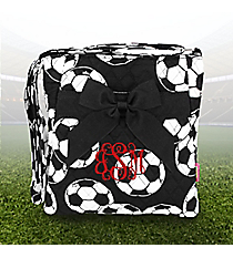 Soccer Quilted Crossbody with Black Trim #SOC1717-BLACK