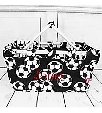 Soccer Collapsible Market Basket #SOC696-BLACK