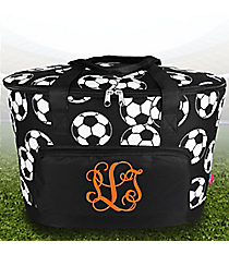 Soccer Cooler Tote with Lid #SOC89-BLACK