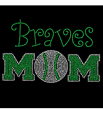"Dazzling ""Team Mom"" 5"" x 8"" Rhinestone Applique Iron-On SP18 *Personalize Your Team Name and Colors"