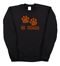"Dazzling ""Paw Prints"" Heavy-weight Crew Sweatshirt 5"" x 8"" Design SP20 *Personalize Your Text and Colors"