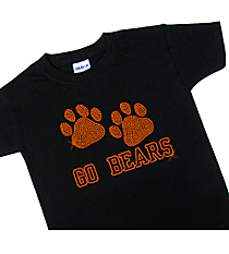 "Dazzling ""Paw Prints"" Youth Short Sleeve Relaxed Fit T-Shirt 5"" x 8"" Design SP20 *Personalize Your Text and Colors"