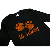 "Dazzling ""Paw Prints"" Youth Long Sleeve Relaxed T-Shirt 5""x 8"" Design SP20 *Personalize Your Colors"