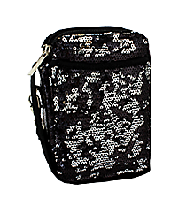 Black Bling Sequined Wristlet #SQC501-BLACK