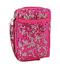 Hot Pink Bling Sequined Wristlet #SQC501-HPINK