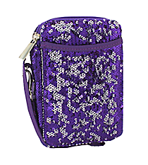 Purple Bling Sequined Wristlet #SQC501-PURPLE