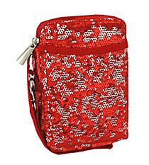 Red Bling Sequined Wristlet #SQC501-RED