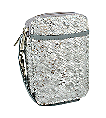 Silver Bling Sequined Wristlet #SQC501-SILVER
