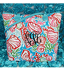 Seaside Bliss Quilted Shoulder Bag with Aqua Trim #SQD1515-AQUAulder Bag with Navy Trim #SQD1515-NAVY