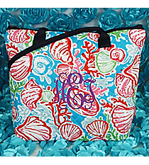 Seaside Bliss Quilted Shoulder Bag with Navy Trim #SQD1515-NAVY